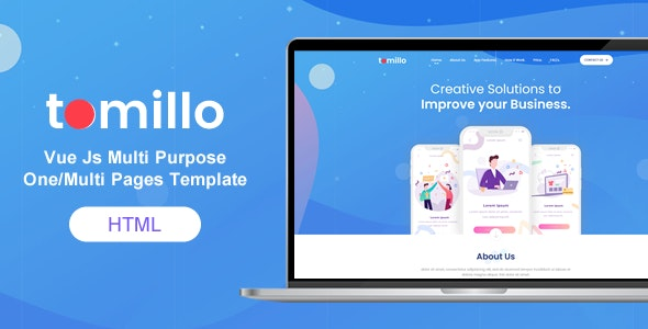 Tomillo - Bootstrap 4 Vue Js Multi Purpose One/Multi Pages Template - Software Technology