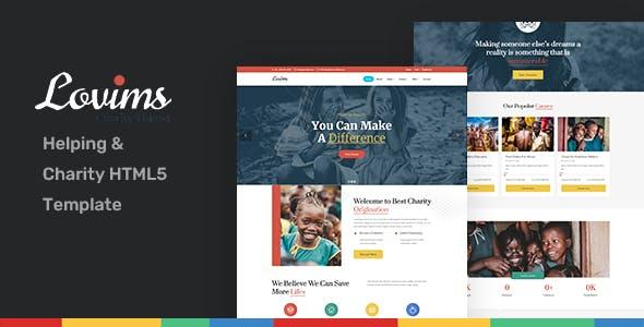 Download Lovims - Nonprofit & Charity HTML5 Template