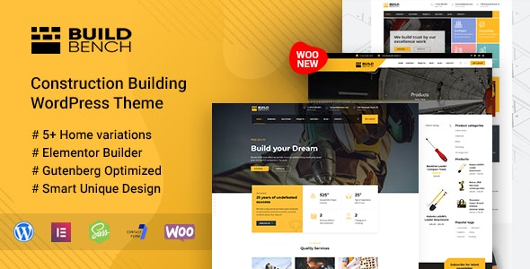 Construction Building WordPress Theme - Buildbench - Business Corporate