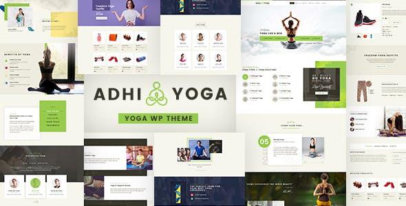 Adhi - Yoga Studio, teacher WordPress Theme