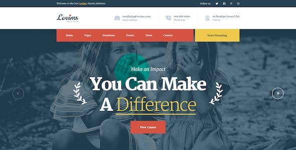 Lovims - Nonprofit Charity PSD Template