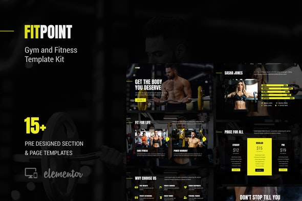 Fit Point - Gym & Fitness Template Kit - Sport & Fitness Elementor