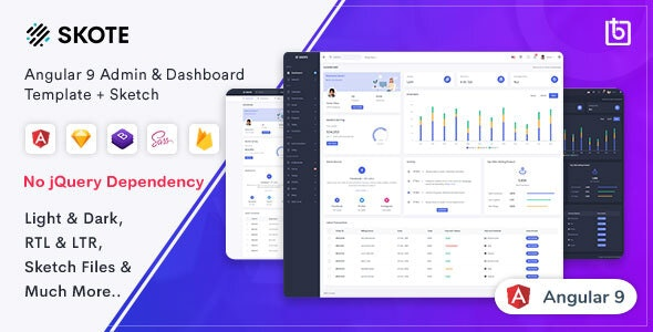 Skote - Angular 9 Admin & Dashboard Template + Sketch - Admin Templates Site Templates