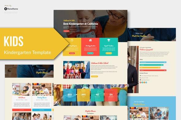 Kids - Kindergarten & Child Care Elementor Template Kit - Education Elementor