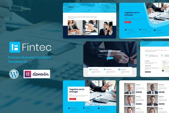 Fintec - Finance, Business Company Elementor Template Kit - Finance & Law Elementor