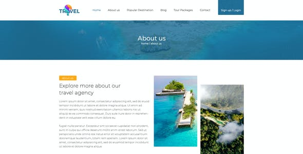 Travel - Tourism PSD Template