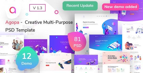 Agopa - Creative Multipurpose  PSD Template - Creative Photoshop