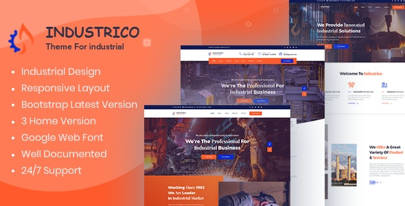 Industrico - Industrial And Engineering HTML Template - Business Corporate