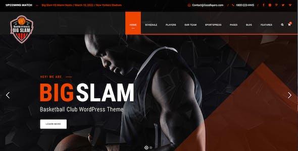 Big Slam Sport Clubs - Soccer WordPress