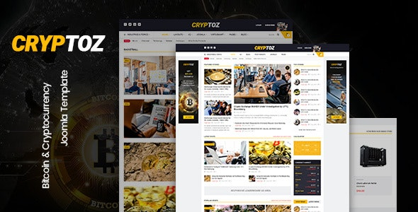 Cryptoz - Bitcoin & Cryptocurrency Joomla Template - Business Corporate