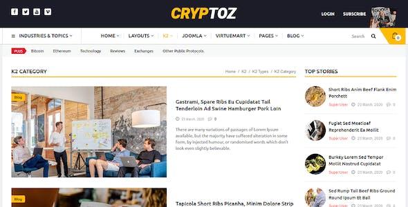 Cryptoz - Bitcoin & Cryptocurrency Joomla Template
