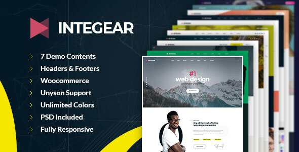 Integear - IT Company & Agency WordPress Theme - Marketing Corporate