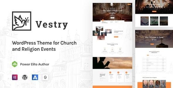 Vestry - Church WordPress - Churches Nonprofit