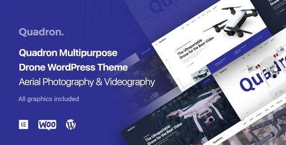 Quadron -  UAV Drone WordPress Theme - Photography Creative