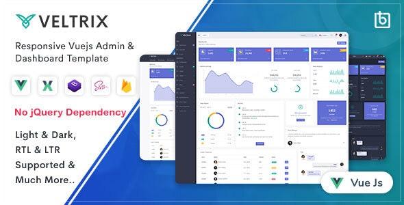 Veltrix - Vuejs Admin & Dashboard Template - Admin Templates Site Templates