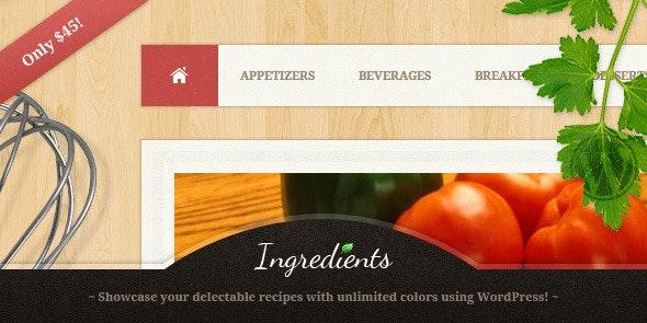 Ingredients - A Fresh Recipe WordPress Theme - Food Retail