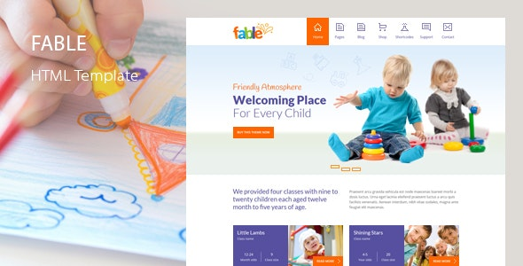Fable - Children Kindergarten Template - Children Retail
