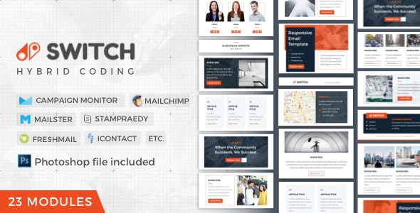 Switch | Business Newsletter - Newsletters Email Templates
