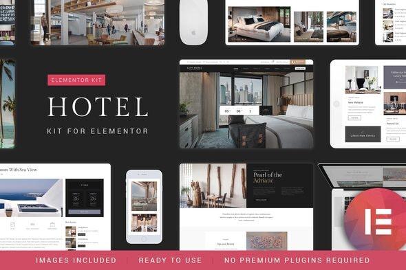 Nicdark Hotel Booking - Template Kit - Travel & Accomodation Elementor