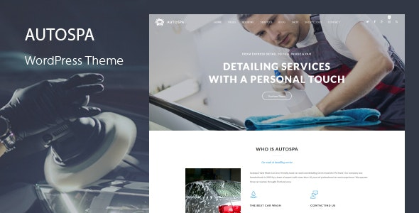 Auto Spa - Car Wash Booking WordPress Theme - Business Corporate