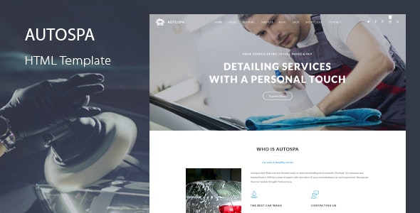 Auto Spa - Car Wash Booking Template - Business Corporate