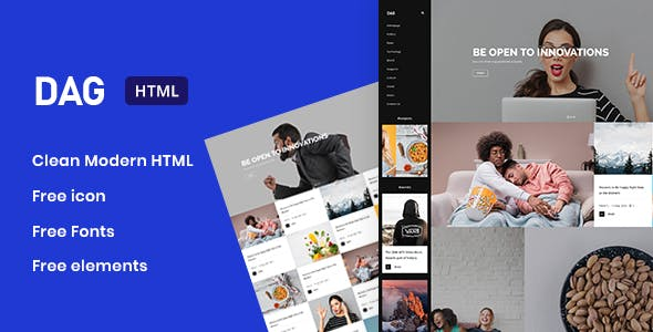 Dag - Premium Creative HTML Template