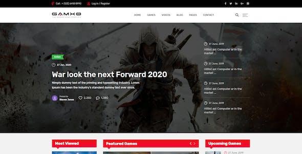 Gamxo - Games News Gaming HTML5 Template
