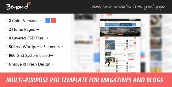 Beyond - Multi-purpose PSD Template - Creative Photoshop