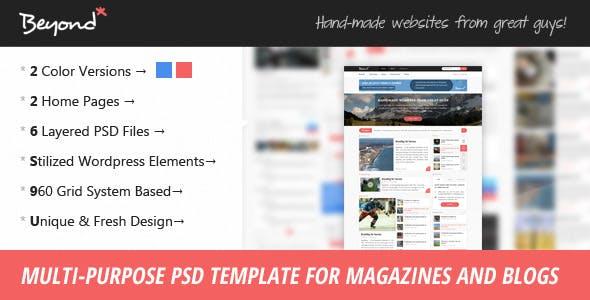 Beyond - Multi-purpose PSD Template