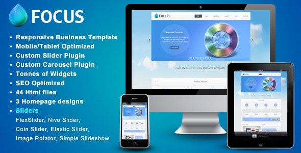 Focus - Responsive Website Template - Site Templates