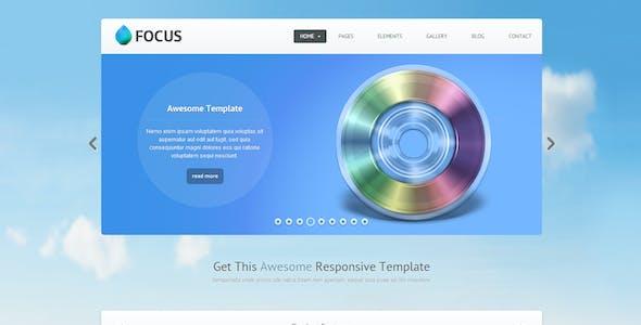 Focus - Responsive Website Template