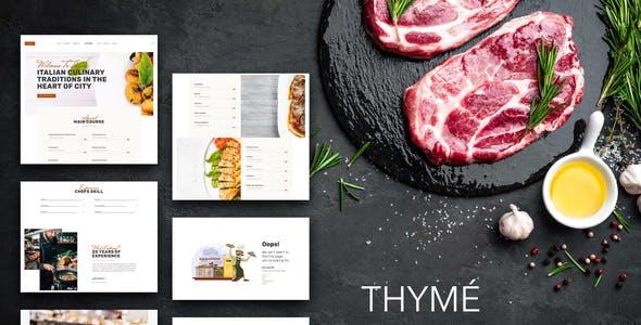 Thyme - Restaurant & Cafe Elementor Template Kit