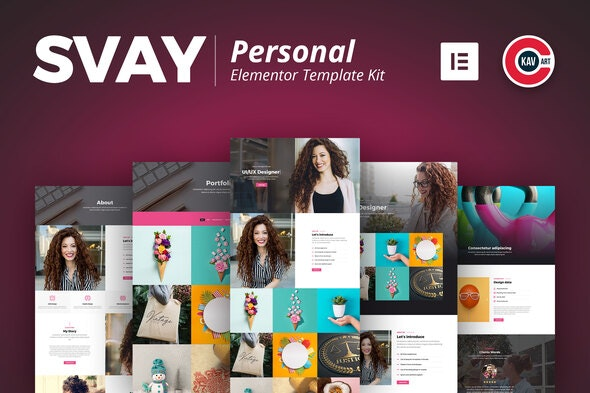 Svay - Personal Template Kit - Personal & CV Elementor