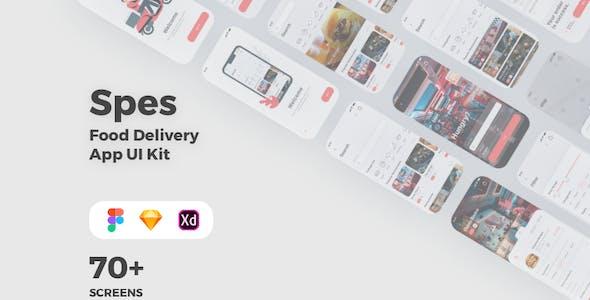 Spes - Food Delivery App UI Kit