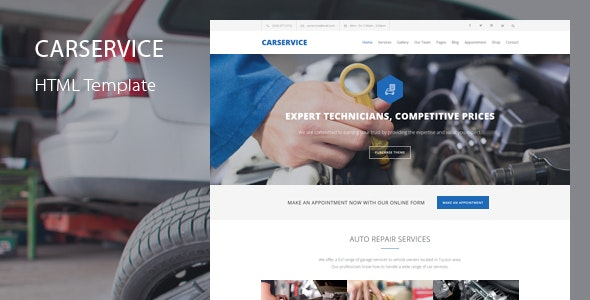 Car Service - Mechanic Auto Shop Template - Business Corporate