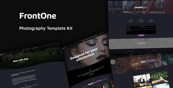 FrontOne - Creative Photography Template Kit