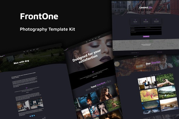 FrontOne - Creative Photography Template Kit - Photography Elementor