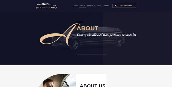 Royal Limo - Limousine Rent Services Template Kit