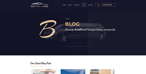 Royal Limo - Limousine Rent Services Template Kit