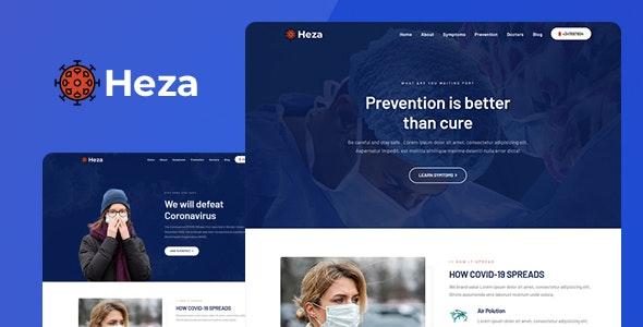 Heza - Coronavirus Medical Prevention Template - Nonprofit Site Templates