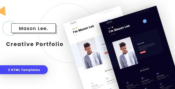 Mason - Creative Portfolio - Personal Site Templates