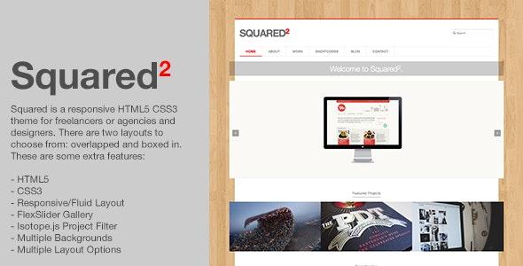 Squared - Responsive HTML5 CSS3 Creative Template - Portfolio Creative