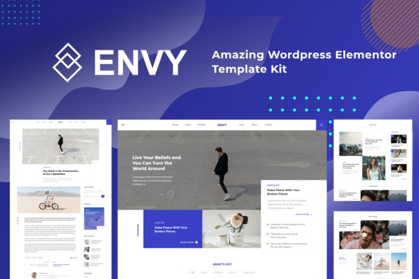Envy - Elementor Template Kit News Magazine - News & Magazines Elementor