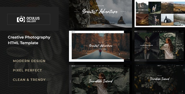 Oculus - Photography HTML Template - Photography Creative