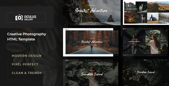 Oculus - Photography HTML Template