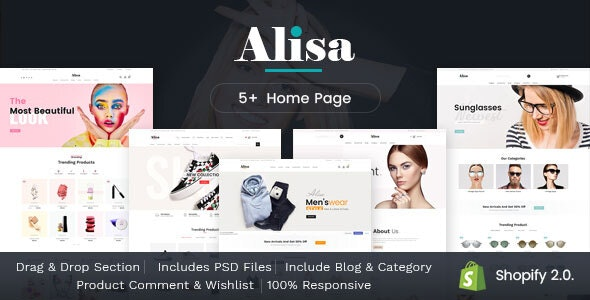 Alisa - Sectioned Multipurpose Shopify Theme - Fashion Shopify
