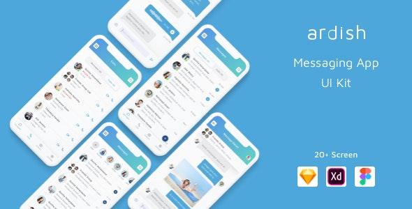 Ardish - Messaging App UI Kit - Marketing Corporate