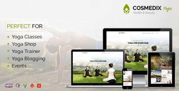 Cosmedix - Health Beauty & Yoga WordPress Theme - Health & Beauty Retail