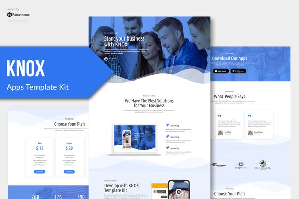 Knox - Technology & Apps Template Kit - Technology & Apps Elementor