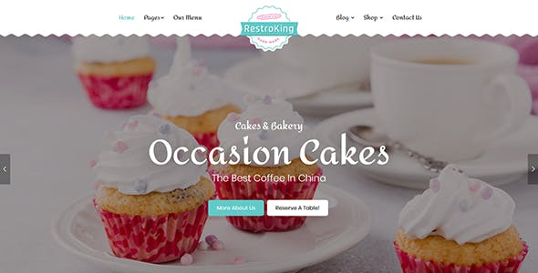 RestroKing - Cake Pizza & Bakery Bootstrap 4 Template